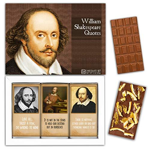 DA CHOCOLATE Candy Souvenir WILLIAM SHAKESPEARE Chocolate Set 1 Box 7.2x5.2