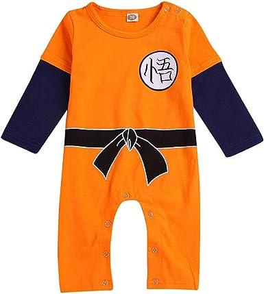 MAYOGO Ropa Bebe Goku Manga Larga Mono Mameluco Camiseta Ropa ...