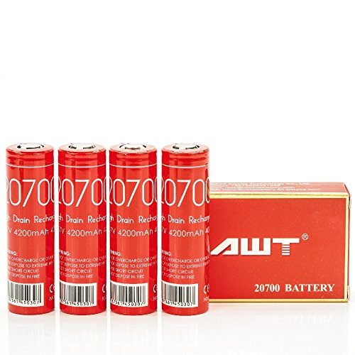 V Force IMR 20700 4200MAH 40A 3.7V rechargeable batteries | 4-Pack | by V Force
