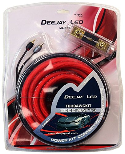 DEEJAYLED DJL 0GA KIT RCA FUSE HOLDER AND MORE AND MORE (TBH0AWGKIT)