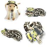OOEOO Puppy Supplies, Small Pet Canvas Cap Dog Baseball Visor Mesh Hat Outdoor Sunbonnet (Camouflage, L)