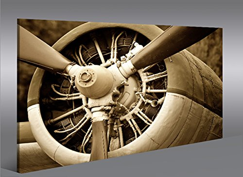 Quadro moderno Motor de velivoli ad elica Impresión sobre ...