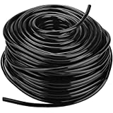 PVC Plastic Heavy Duty Flexible Industrial Agriculture Lawn Garden Water Irrigation Hose Pipe Tubing Roll Black 3 Sizes(50m)