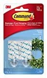 Command Medium Plastic Hook(Clear,2 hooks and 4 strips)