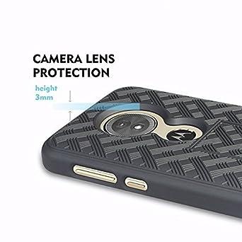 ... Belt Clip Holster Cover Shell Kickstand Criss Cross Black New Plaid Design For Motorola Moto E5,Moto G6 Play: Cell Phones & Accessories