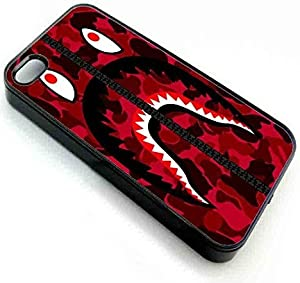 VenKa Store iPhone 7 7s Back Phone Case Cover OF bape shark army militaryred