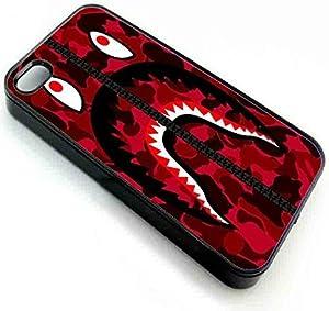 VenKa Store iPhone 7 7s Back Phone Case Cover OF bape shark army militaryred