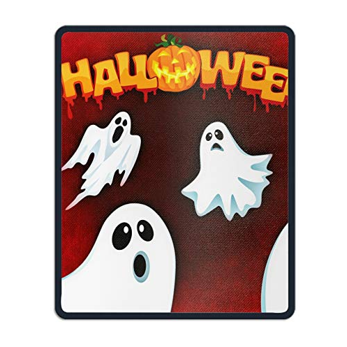 Halloween Ghost Rubber Mouse Pad Desktop Anti Slip Computer Mouse Mat Square -