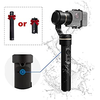 FeiyuTech G5 V2 Upgraded Version Splash Proof Handheld 3 Axis Gimbal Stabilizer GoPro Hero 6 5 4 3, Yi Cam 4K, AEE Other Action Cameras Similar Size Carrying Case Extension Bar