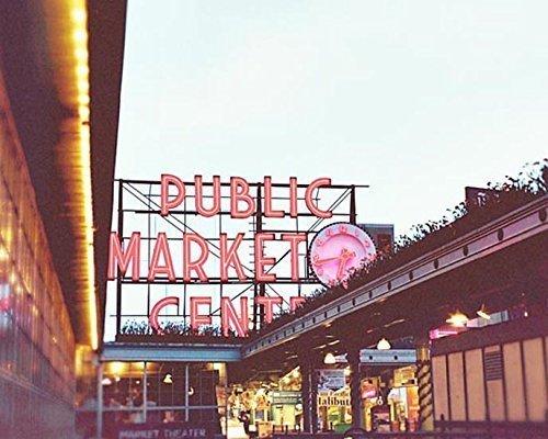 Seattle Photography Public Market Kitchen Decor 5x7 inch print by Audra Edgington Fine Art