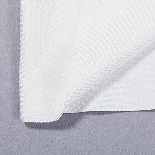 Schlitz Maxi Schulter Frontseiten One Ansatz Slash Verband Kleid HLBandage Weiß Kunstseide FXq055B