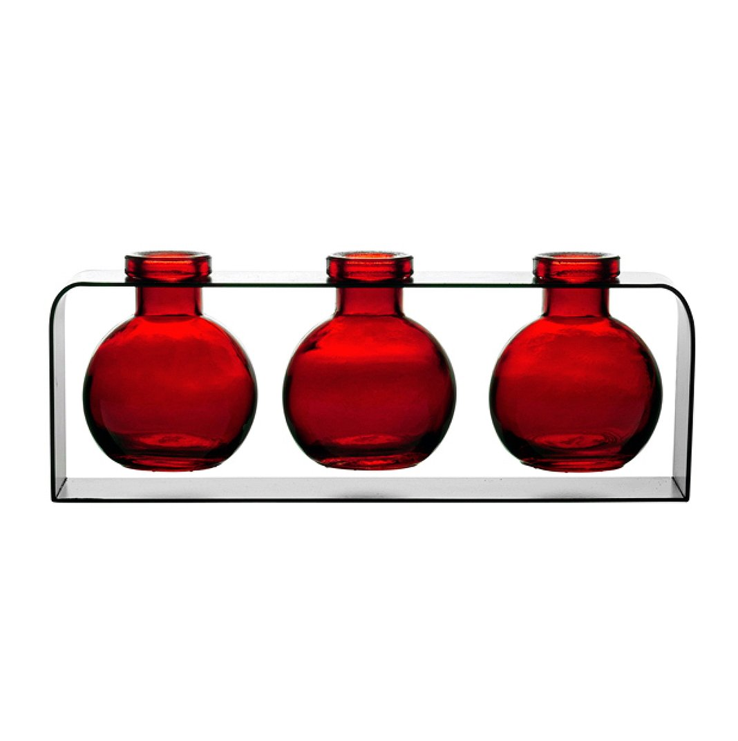 Amazon small flower vases glass bud vases contemporary amazon small flower vases glass bud vases contemporary vases colored bottles g169f red 3 bottles with stand home glass accents cheap glass reviewsmspy