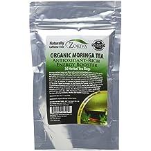 Moringa Tea Organic 30 Bags 100% Pure Antioxidant-Rich Energy Booster