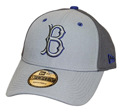 Era New Dodgers Brooklyn (New Era Brooklyn Dodgers MLB 9Forty Cooperstown The League Pop Gray Hat)