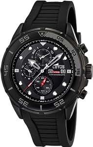 Lotus 15678/3- - Reloj de caballero de cuarzo, correa de plástico color negro