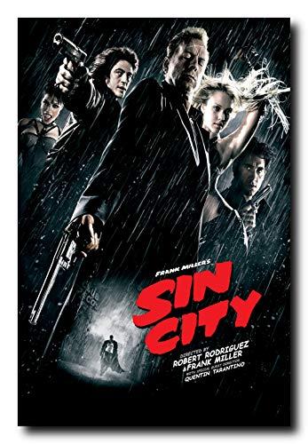 Mile High Media Sin City Movie Poster 24x36 Inch Wall Art Portrait Print - Bruce Willis - Jessica Alba