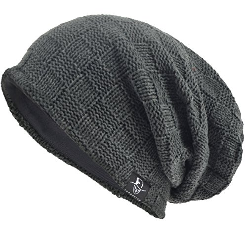 VECRY Men's Cool Cotton Beanie Slouch Skull Cap Long Baggy Hip-hop Winter Summer Hat ()