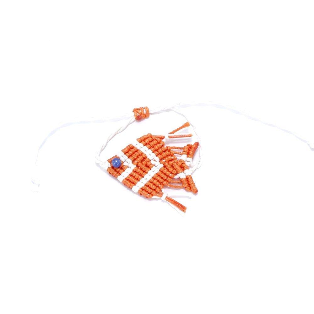Peppercorn Kids Girls Fish Bracelet / Anklet - Orange