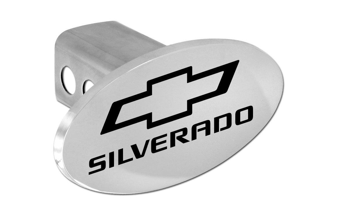 Chevy Silverado 2012-2016 Bowtie Metal Trailer Hitch Cover Plug (2 inch Post) by Chevrolet