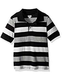 The Children's Place baby-boys Baby Short Sleeve Rugby Stripe Polo