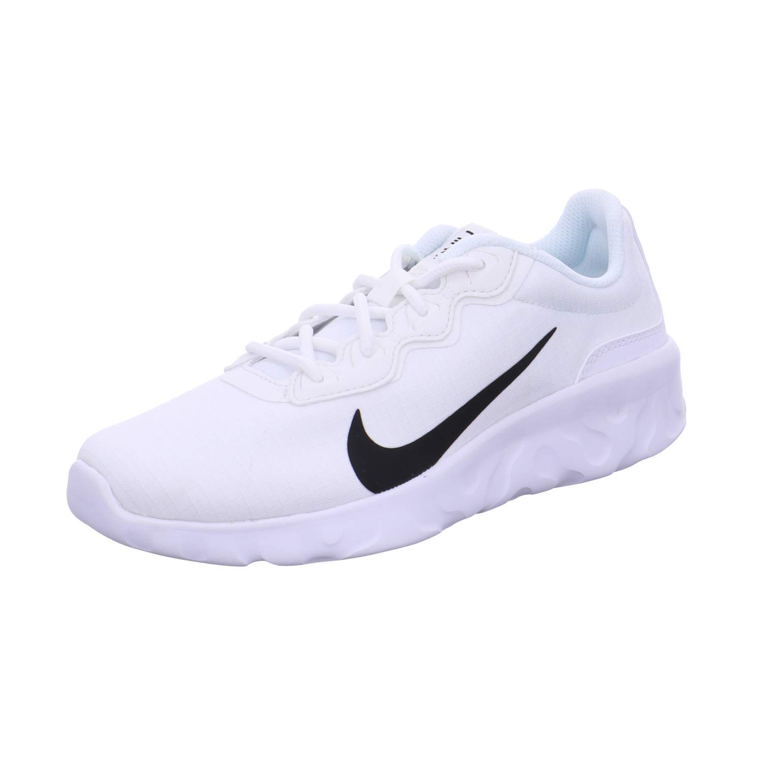 muy agradable diccionario prototipo  Buy Nike Women's WMNS Explore Strada/Smtwht/Black White/Blk Running Shoes-7  UK (41 EU) (9.5 US) (CD7091-101) at Amazon.in