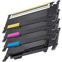 1 Set of 4 Inkfirst® Toner Cartridges CLT-K407S, CLT-C407S, CLT-M407S, CLT-Y407S Compatible Remanufactured for Samsung CLP320 Black, Cyan, Magenta, Yellow CLP-320N CLP-325 CLP-325W CLX-3185 CLX-3185FN CLX-3185FW CLX-3185N
