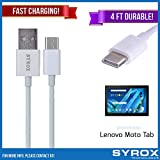 Syrox 50-Pack USB Type-C Cable, Reversible 4 ft Ultra Durable Fast Charging for Lenovo Moto Tab, Samsung Galaxy Note 8, S8 Plus, LG V30, V20, G6, G5, Google Pixel, 6P, Nintendo Switch and All