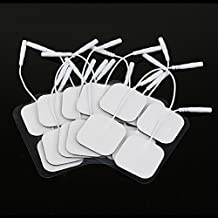 Lemonbest Universally-Compatible 20 Tens Electrodes Pads 4cm x 4cm Premium Quality Reusable Self Adhesive
