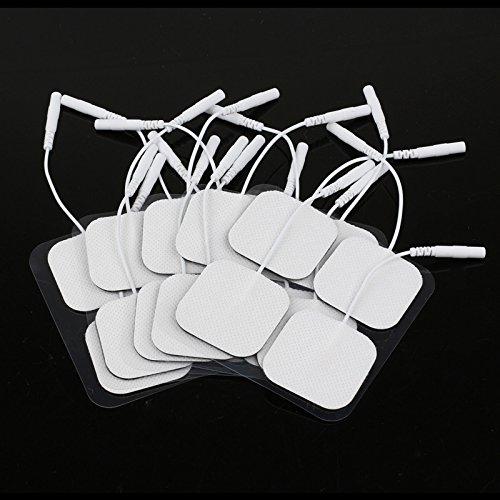 Lemonbest almohadillas de electrodos de 20 t universalmente compatibles 4cm x 4cm autoadhesivo reutilizable de calidad...