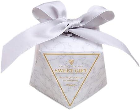 WopenJucy 50 Forma Diamante Cajas Favor Caja Caramelos Dulces ...