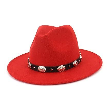 XZP Mujeres Hombre Fedora Lana Algodon Sombrero de algodón para el Invierno  Otoño Elegante Dama Trilby 7b3d206169b