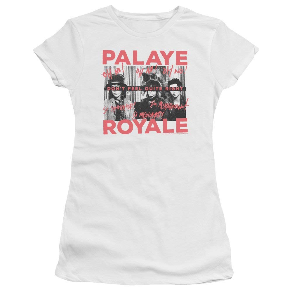 Amazon.com: Palaye Royale Oh No-S S Junior Sheer-White: Clothing