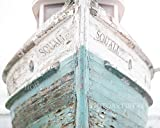 Nautical Ship, Beachy, Beach Print, Cottage Decor, Sea, Rustic Wall Art, Teal Fixer Upper, Bathroom, 11x14 Print