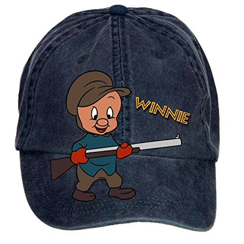 tommery-unisex-elmer-fudd-vector-hip-hop-baseball-caps
