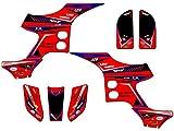 Senge Graphics 1993-2005 Honda TRX 90, Surge Red Graphics Kit