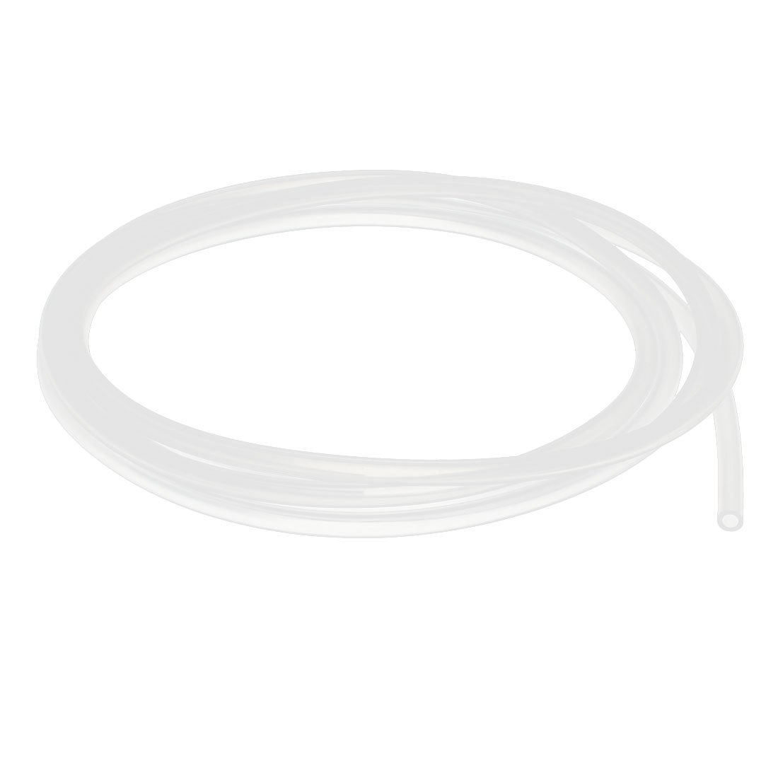 uxcell A15121600ux1000 3mm x 5mm Silicone Vacuum Translucent Tube Beer Water Air Pump Hose Pipe 2 Meters Long Semi-Clear