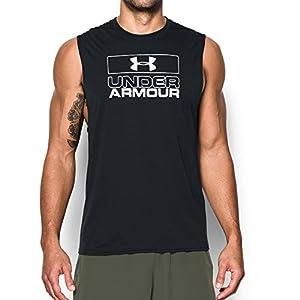 Under Armour Men's Muscle Tank, Black/White, X-Large