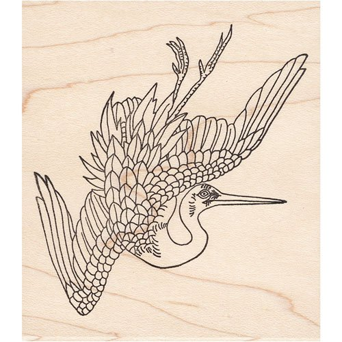Right Crane Rubber Stamp Japanese Animals