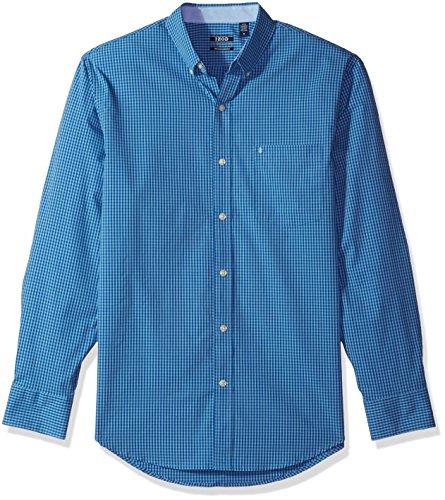 IZOD Men's Premium Performance Natural Stretch Gingham Long Sleeve Shirt (Regular and Slim Fit) from IZOD
