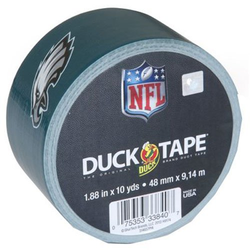 Duck Brand 281532 Philadelphia Eagles Nfl Team Logo Duct Tape  1 88 Inch By 10 Yards  Single Roll