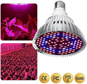 WDsunshine Lampada per Piante 30W,E27 LED Grow Light Spettro Completo,Lampadina da Coltivazione per Piante da Interno Veg e Fiore,Durevole e ad Alta Efficienza