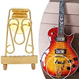 Domybest Electric Bass Jazz Guitar Tailpiece Bridge for 6-String Archtop Guitar Parts Gold
