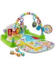 Fisher-Price Deluxe Kick & Play Piano Gym & Maracas – English Edition