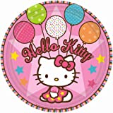Amscan Hello Kitty Balloon Dreams 9″ Paper Plates, Health Care Stuffs