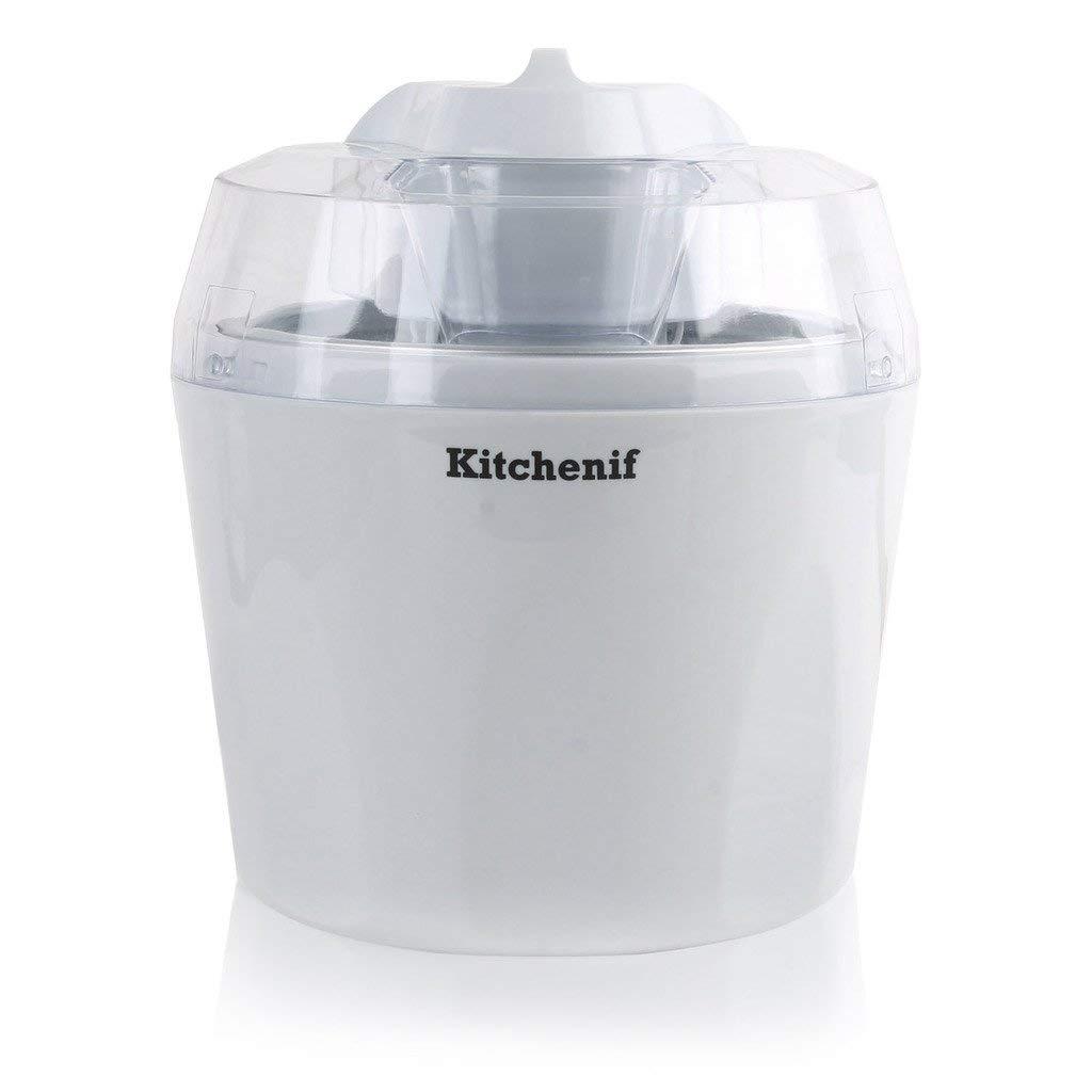 Buy Kitchenif Ice Cream Sorbet Slush Frozen Yoghurt Maker Capacity 1 5 Ltr White Online At Low Prices In India Amazon In