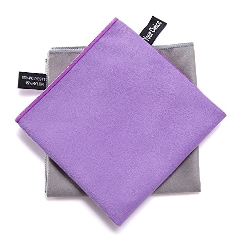 Your Choice Microfiber Sports Travel Towel Ultra Compact, Lightweight, Super Absorbent, Fast Dry - For Gym, Yoga, Beach, Pool, Golf, Camping, Swimming and Bath Towels- 20