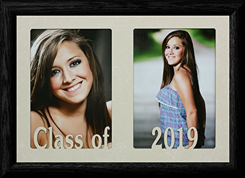7x10 CLASS OF 2019 ~ Holds two portrait 4x6 or cropped 5x7 photos - Graduate Gift! ()