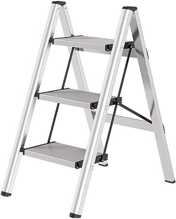 HGXC Escalera de Tijera Escalera, Gruesa Escalera Plegable Taburete Tubo de Hierro Engrosamiento del Pedal Escalera en Espiga (Color : Blanco, Tamaño : Three-Step Ladder): Amazon.es: Hogar