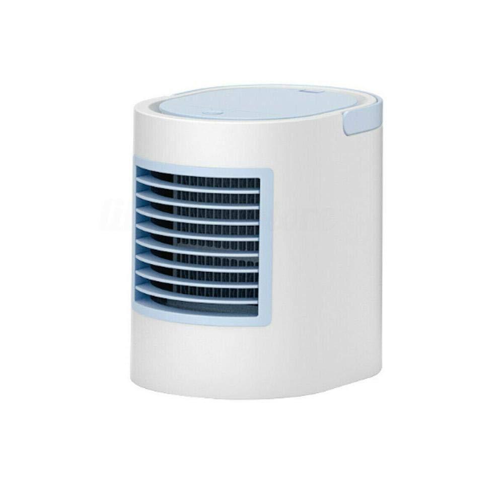 KyStudio Mini Air-Conditioning Fan LED Light Portable Mini Air Conditioner Cooling Fan Cooler Humidifier Desk Fan by KyStudio