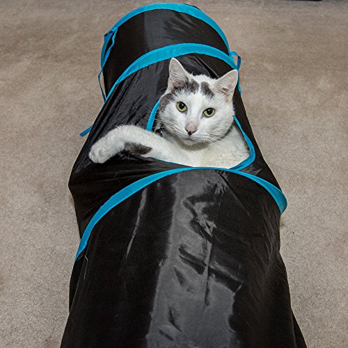 PetLike Deluxe Collapsible Cat Tunnel Toy By Pet Tube For Kittens, Puppies, Rabbits And Other Small-Sized Pets Fun And Durable Hideaway For Entertainment, Training, Exercise And Running by PetLike (Image #3)